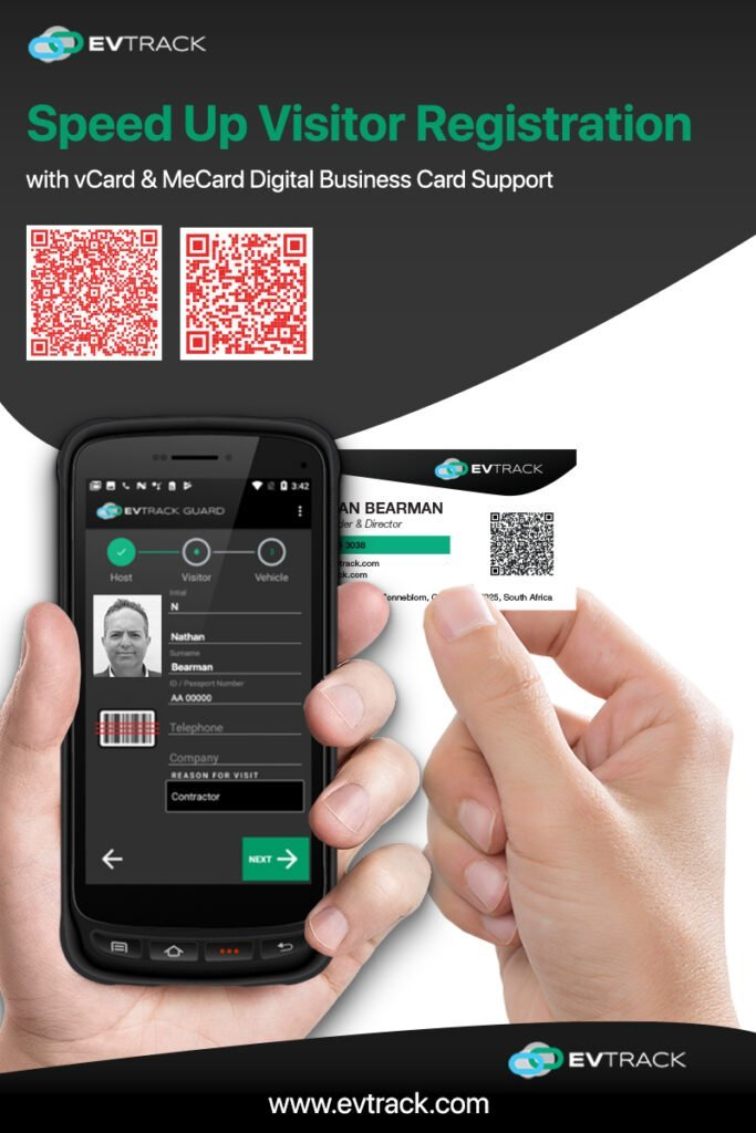 Business Card QR Code Scanning