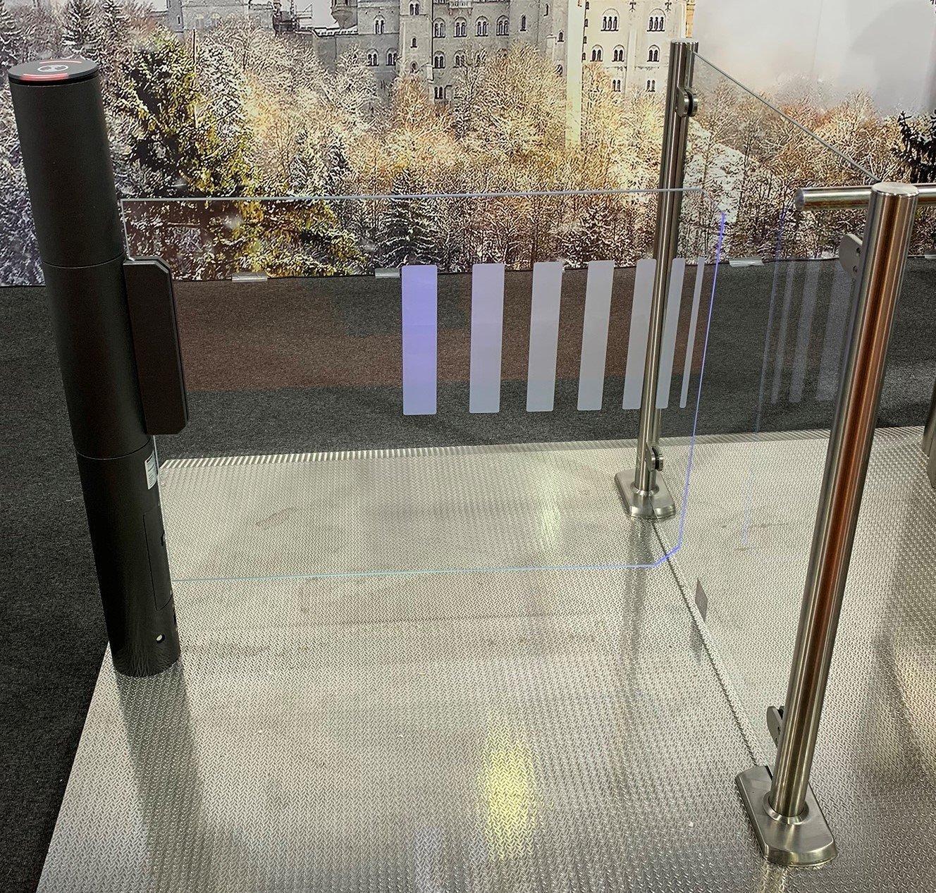 glass swing gate